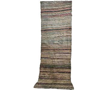 Antique Hand Woven Turkish Kilim Runner Rug