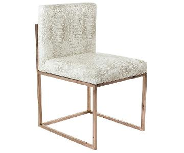 Houzz Faux Leather Rose Gold Dining Chairs