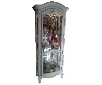 Ethan Allen Hand Painted French Country Curio Cabinet