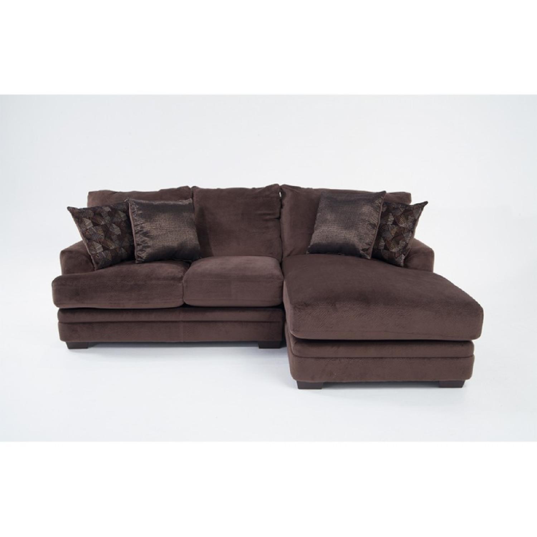 Bob s Charisma Brown Sectional Sofa AptDeco