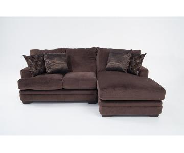 Bob's Charisma Bob-O-Pedic Two Piece Sectional Couch