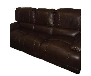 Bob's Brown Leather Reclining Couch