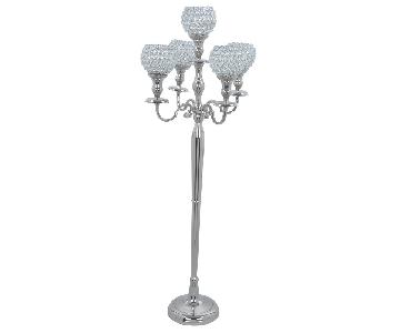 Handmade Crystal 5 Goblet Candelabra