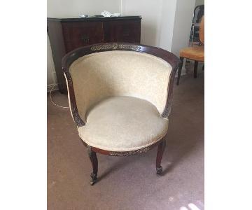 Vintage Petit Boudoir Chair