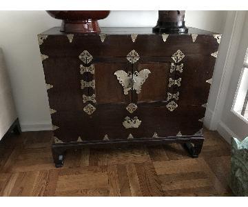 Vintage Wood Oriental Chest