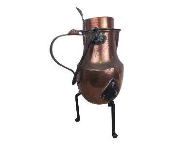 19th Century Copper Handmade Lidded Coffee Tea Pot