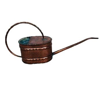 Vintage French Country Rustic Copper Flower Watering Pot