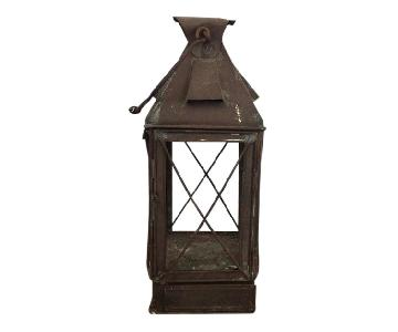 Antique Rustic French Style Candle Lantern