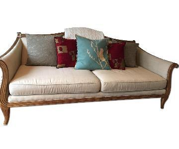 Crate & Barrel Wood Framed Sofa