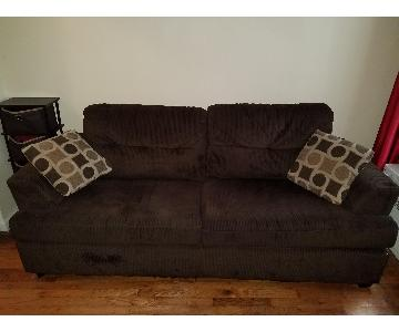 Jennifer Convertibles Suede Sofa