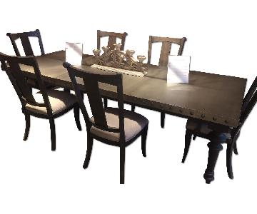 Hooker Furniture Vintage West Wood Dining Table, w/ 6 Chairs