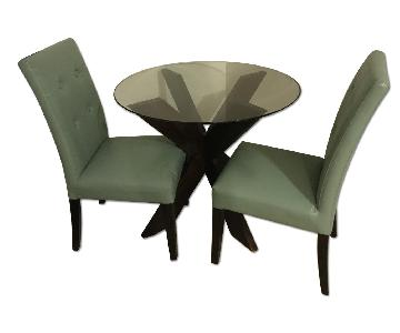 Pier 1 Glass Dining Table w/ 2 Chairs