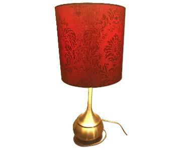 Bob's Burgundy Table Lamps