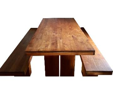 Design within Reach Dining Table w/ 2 Benches