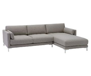 CB2 2 Piece Sectional Sofa