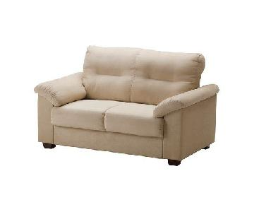 Ikea Suede Two Seater Sofa