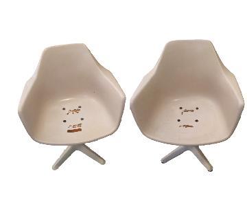 Mid-Century Modern Saarinen-Style Tulip Burke Chairs