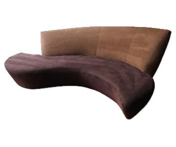 Preview Furniture Italian Ultrasuede Sofa