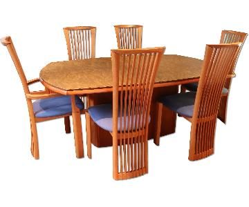 Skovby Cherry Dining Room Table w/ 6 Chairs