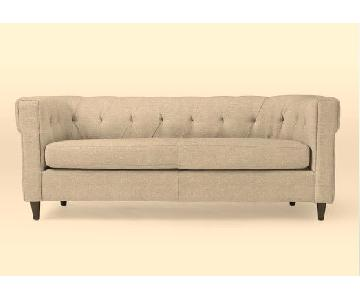 West Elm Chester Tufted Upholstered Sofa