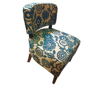 Pier 1 Blue Slipper Chair