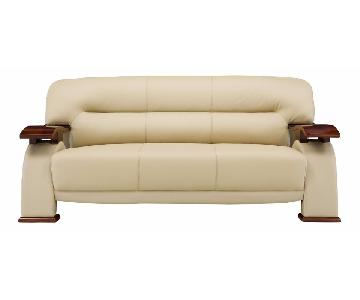 Global Furniture USA Metro Leather Sofa