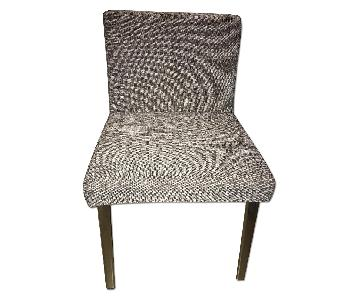 Ikea Grey Fabric Side Chair