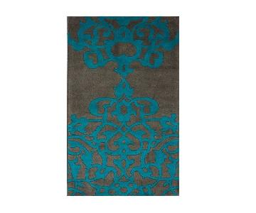 nuLOOM Hand-Tufted Wool Area Rug in Grey & Turquoise