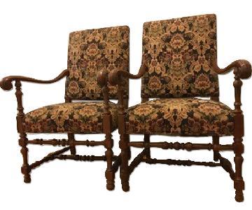 Southwood Furn Jacobean Armchairs
