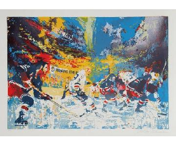 Leroy Neiman Ice Men 1974 Hockey Serigraph