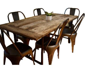 Restoration Hardware Reclaimed Wood 7 Piece Dining Set