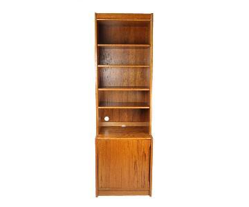 Two Piece Danish Modern Teak Bookshelf
