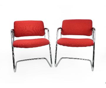 Steelcase Red Chairs