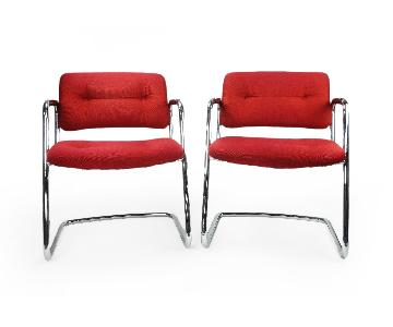 Steelcase Red Accent Chairs