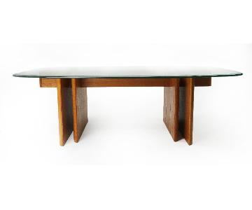 Teak Gustav Gaarde for Trakanten Wood & Glass Coffee Table