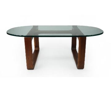 Fred Camp Glass Top Coffee Table