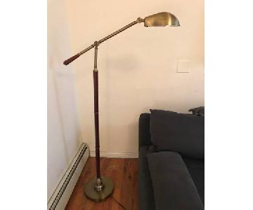 Wood & Brass Floor Lamp