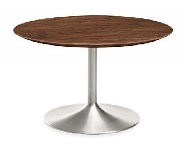 Room & Board Aria Walnut Top Dining Table w/ Stainless Steel