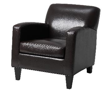 Ikea Faux Leather Armchair