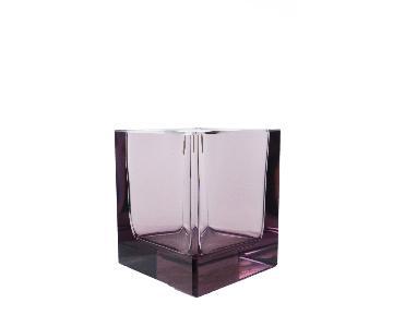 Vintage Purple Crystal Vase