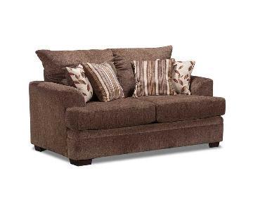 American Furniture Manufacturing Cornell Cocoa Loveseat