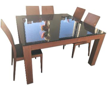 Ikea Glass Top 9 Piece Dining Set