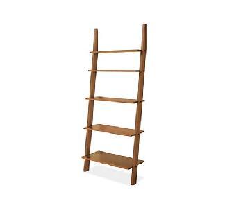 Room & Board Walnut Pisa Leaning Shelves