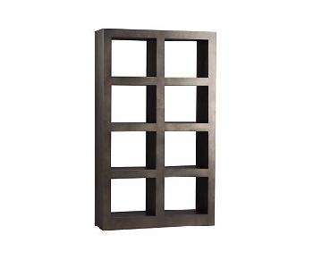 Crate & Barrel Steel Shadow Box Tower Shelf