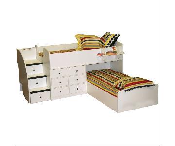 Berg Sierra Captain's Twin over Twin Bed w/ Storage