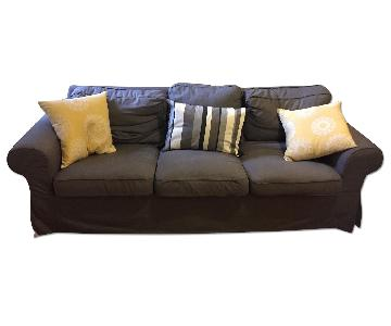 Blue Fabric 3 Seater Couch