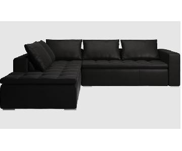 BoConcept Black Mezzo Leather Sectional Couch