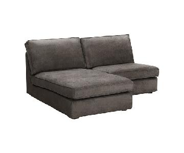 Ikea Kivik Chaise & One-Seat Section in Tullinge Gray-Brown