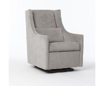 West Elm Grey Glider Chair & Ottoman