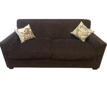 Purple Brown Fabric Sofa
